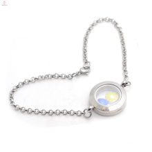 Top selling stainless steel memory locket bracelets jewelry with chain
