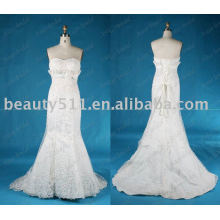 Nouvelle mode de design populaire en satin dressant la robe de mariéeJL002