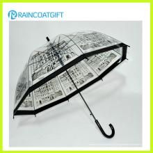 Parapluie de PVC transparent de mode pour la fille
