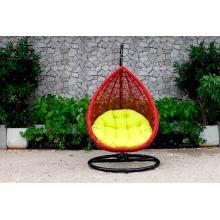 Único y duradero Patio al aire libre de jardín silla de mimbre Swing Hamaca Poly Rattan
