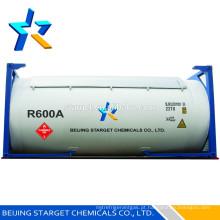 Gás refrigerante r600a com elevada pureza 99,9%