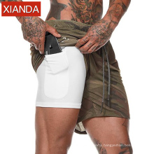 Athletic Wear Mens fitness gym shorts blank basketball training shorts with pocket fitness bottoms men short trousers