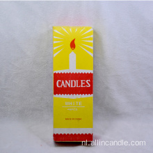 40g White Candle Yellow Box naar Ghana