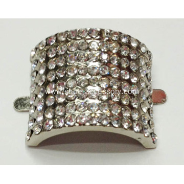 Stylish Zinc Alloy Shoe Buckles with Rhinestone