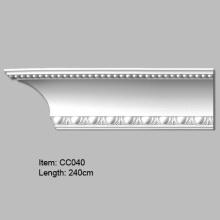 Moulure couronnée de corniche en PU de conception européenne