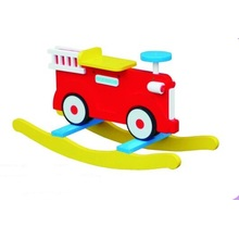 Hot Sale Wooden Baby Chair Fire Engine Rocker for Kids and Children