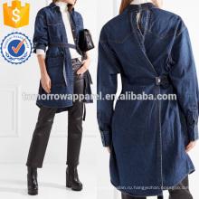 Пэчворк деним куртка Производство Оптовая продажа женской одежды (TA3034C)