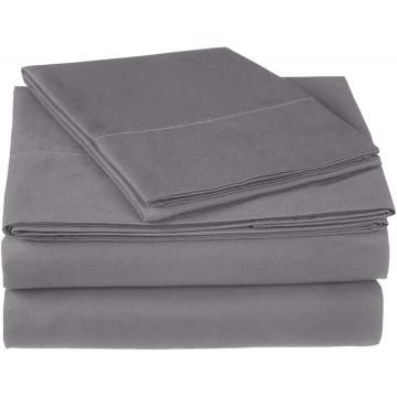 Ensemble de draps en gros coton satiné 300TC 4PCS