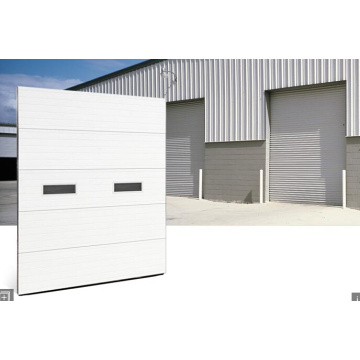 Aluminium Tempered PC Sheet Sectional Garage Door