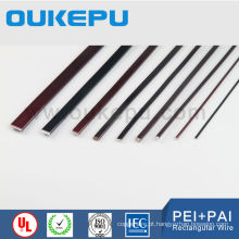 Fio de alumínio de esmalte retangular de transformador IEC60317, fio retangular de esmalte de tamanho grande