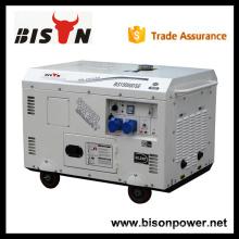 BISON China Zhejiang diesel única fase 15 kva gerador silencioso