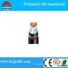 Copper XLPE Armored Low Voltage Cable PVC Sheathed Cable Black