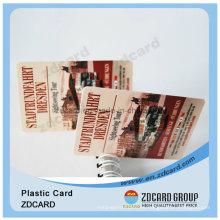 Tarjeta de visita transparente elegante del diseño de la moda PVC