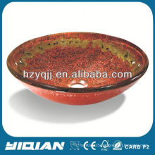 Colored Table Top Glass Vessel Sinks