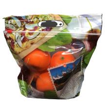 New Arrival Zipper Top Printed Bag Fruit Vegetable Fresh Keeping Packaging Bag Plastic Bag Clear Customized Logo