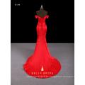 Off-the-Schulter Hülle Meerjungfrau Abendkleid formales Kleid