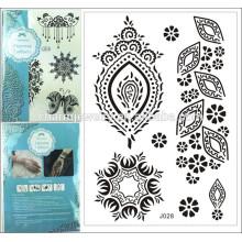 Estilo impermeable j028 del verano del cordón del mehndi de la alheña del negro del tatuaje de la marca de fábrica especial 1PC