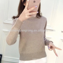 2017 spring high waist cashmere sweater knitted bottoming shirt