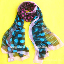 Polyester chiffon scarf, wholesale by factory directly