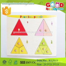 WEP019 preschool educational kids fraction wooden puzzle toys