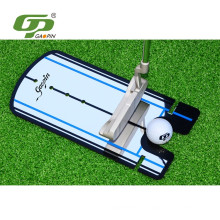espejo de putting golf acrílico negro de alta calidad de la forma de U de la novedad