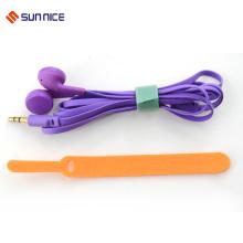 Organizador de cable de gancho y lazo de color personalizado