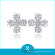 2014 China Brincos de flor de luxo artesanal (SH-E0009)