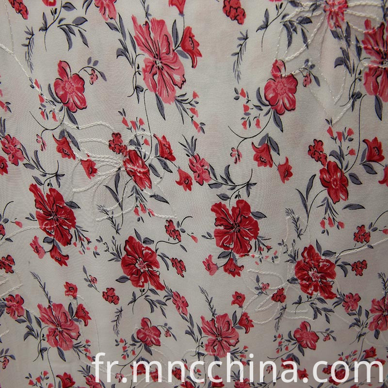 30s rayon print with embordiery