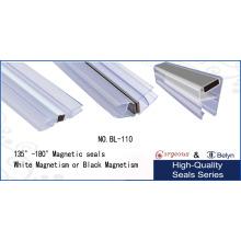135-градусная ПВХ-стеклянная душевая дверь Магнитная полоска для душевой двери