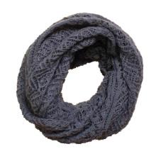Womens Twist Pattern Knitted Winter Circle Loop Scarf Snood (SK104)