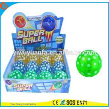 Diseño de la novedad Christmas'gift LED parpadeante de goma de 75 mm punto impreso Aire Bouncy Ball