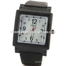 New arrival square face 5 colors silicone rubber watch