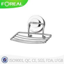 Stand de sabão fio de Metal cromado com sucção