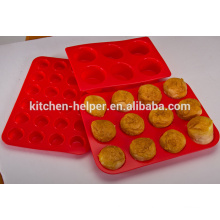 Newest Custom Non-stick Heat Resistant Mini Cupcake FDA Silicone Muffin Pan/Silicone Muffin Mold/Bakeware Silicone Muffin Pan