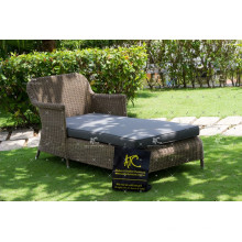 Royal Regal Design Synthétique Poly Rattan Daybed ou Lounger pour Outdoor Garden Patio Wicker Furniture