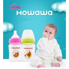 Botella de alimentación de vidrio de 5oz para bebés sin mango