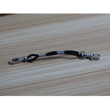 wholesale name rubber band bracelet with snap hook