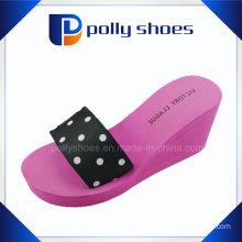 EVA Ladies Fancy Wedge High Heel Slipper Wholesale