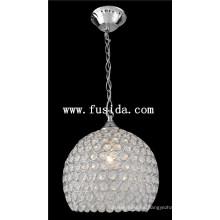 Redonda bola de cristal de iluminación colgante / lámpara colgante de cristal