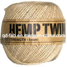 Cordão de cor natural de cânhamo para artesanato e joalheria (HT-1 mm)