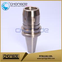 Mandril de trituração BT Shank (BT30 / 40/50) com pinça reta