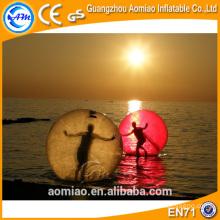Grande boule d'eau gonflable flottante flottante, ballon pédestre à l'eau, eau gonflable