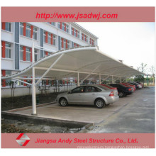 Design Car Parking Shade Steel Bleachers Tensile Fabric Structure Canopy
