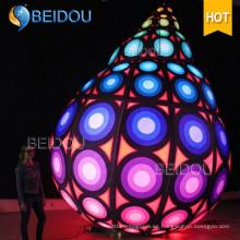 Globos inflables del LED que cuelgan las decoraciones inflables de encargo de las bolas de la Navidad del globo