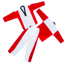 taekwondo v neck red uniform