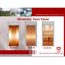 Painel da porta do elevador na cor dourada de Rosa (SN-DP-307)