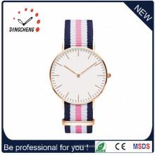Reloj modificado para requisitos particulares delgado del amante de los pares del cuarzo / reloj unisex de la parte posterior del acero inoxidable