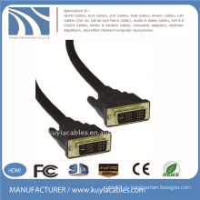 Позолоченный черный DVI-DVI-кабель DVI 18 + 1 для SAMSUNG DELL MONITOR