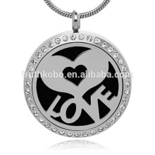 love heart Antique Silver Locket Essential Oil Aromatherapy Diffuser-Aromatherapy Young Living