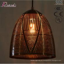 Moderna e Fashion metal oco pingente de luz com sala de jantar